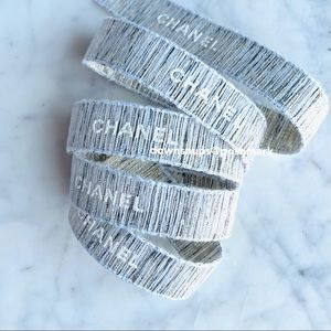 Chanel Limited Edition tweed wrapping ribbon